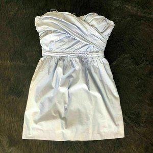 J.Crew Dress Size 2 Petite Chambray Sweetheart Nec